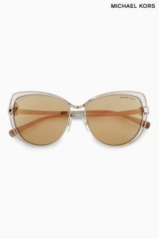 Michael Kors Black Gold Audrina Twin Frame Sunglasses