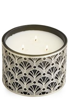 Midnight Patchouli And Amber 3 Wick Candle