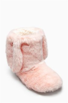 Bunny Boot Slippers (Older Girls)
