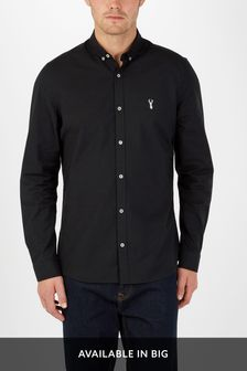 Buy Men's Shirts Black Slim Fit Slimfit from the Next UK online shop