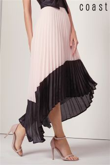 Coast Blush Soft Pleat Skirt