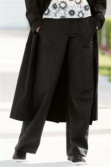 Pocket Detail Wide Leg Trousers