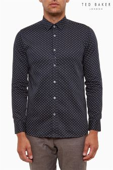 Ted Baker Navy Floral Geo Print Shirt