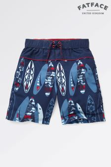Fat Face Mid Navy Surfboard Boardies