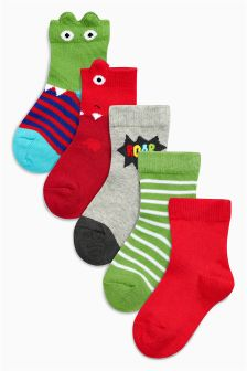 Character Socks Five Pack (Younger Boys)
