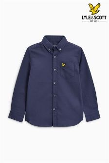 Lyle & Scott White Long Sleeve Oxford Shirt