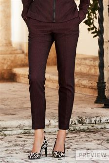 Texture Skinny Trousers
