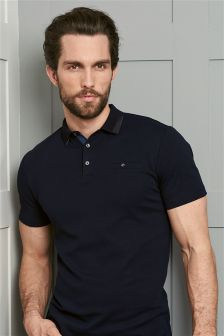 Premium Textured Collar Poloshirt