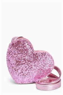 Heart Glitter Bag