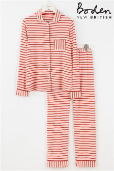 Boden Pink Stripe Pyjama Set