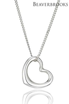 Beaverbrooks 9ct White Gold Heart Pendant