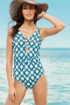 Geo Print Swimsuit