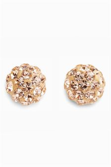 Diamanté Ball Stud Earrings