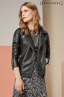 Warehouse PU Core Biker Jacket