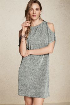 Metallic Foil Dress