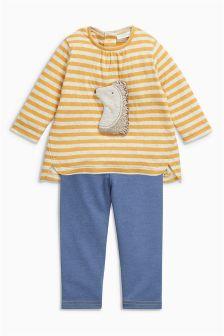 Stripe Hedgehog Top And Leggings Set (0mths-2yrs)
