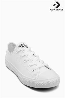 Converse White Chuck Taylor Lo Leather