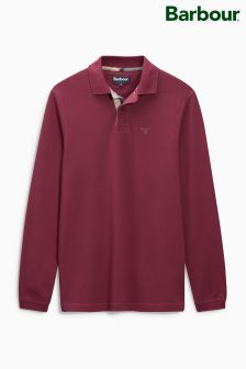 Barbour® Plain Pique Long Sleeve Polo