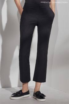 French Connection Black Glass Stretch Boot Cut Trouser