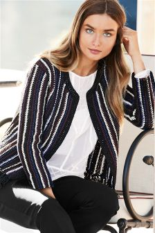 Stripe Stitch Jacket