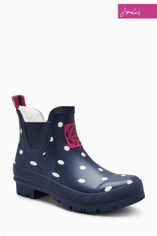 Joules Navy Spot Wellibob Welly