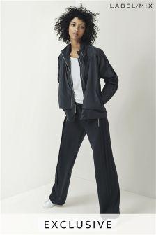 Mix/Caitlin Price Side Pleat Wide Leg Trouser