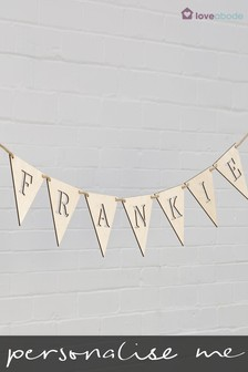 Personalised Name Bunting By Loveabode
