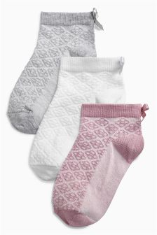 Pretty Socks Three Pack (Younger Girls)