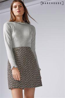 Warehouse Sparkle Tweed Pelmet Skirt