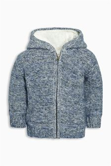 Borg Lined Knitted Jacket (3mths-6yrs)