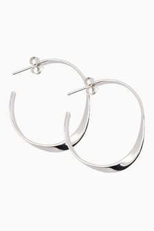 Medium Organic Hoop Earrings