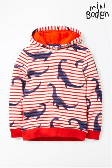Boden Red Nessie Fun Hoody