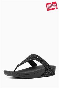 FitFlop™ Black Glitter Comfort Sandal
