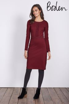 Boden Wine Gisele Ponte Dress