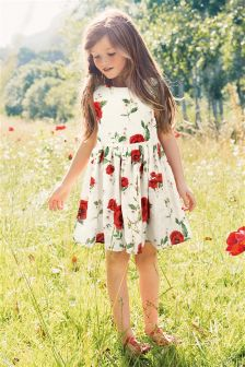 Poppy Print Prom Dress (3-12yrs)