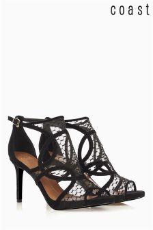 Coast Black Mesh Heel Shoe
