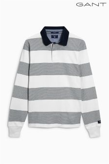 Gant White/Grey Stripe Rugby Shirt