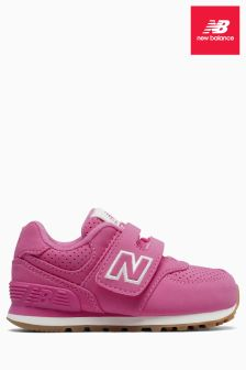 New Balance Pink 574 Velcro Trainer
