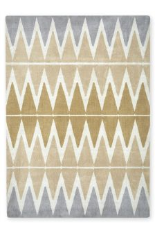 Ochre Abstract Diamond Rug
