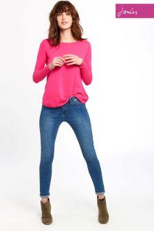 Joules Pink Curved Hem Tara Jumper