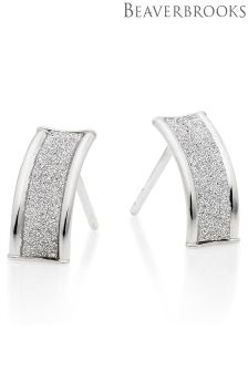 Beaverbrooks 9ct White Gold Glitter Earrings