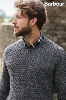 Barbour® Grey Copeland Crew Neck Jumper