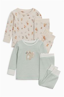 Squirrel Snuggle Pyjamas Two Pack (9mths-8yrs)