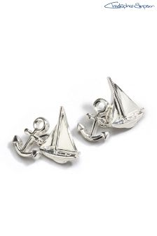 Silver (Metal) Signature Christopher Simpson  Yacht  Cufflinks