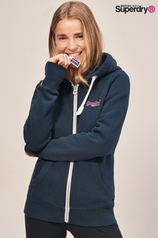 Superdry Navy Full Zip Hoody