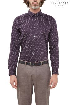Ted Baker Purple Floral Geo Print Shirt