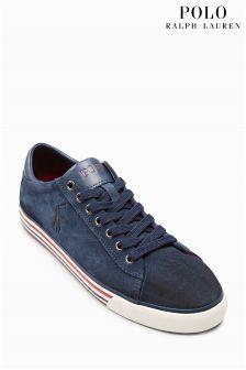 Ralph Lauren Suede Harvey Sneaker
