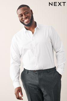 White Small Cutaway Collar Shirt