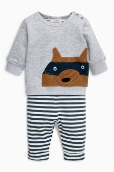Fox Jersey Two Piece Set (0mths-2yrs)