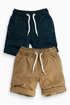 Navy/Stone Shorts Two Pack (3-16yrs)